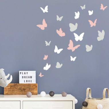 Mariposas. 3 colores a elegir - Vinilos decorativos