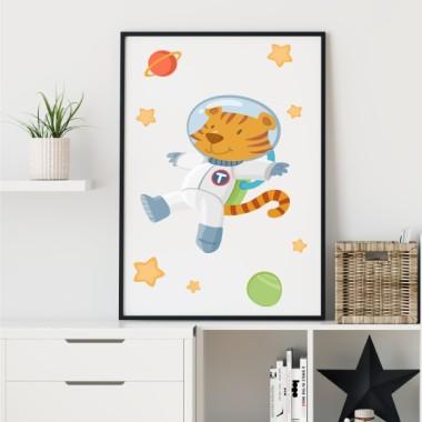 Toiles déco enfant - Astronaut tiger