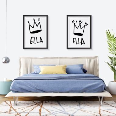 Lot de 2 affiche décoration du maison - Elle et Elle
