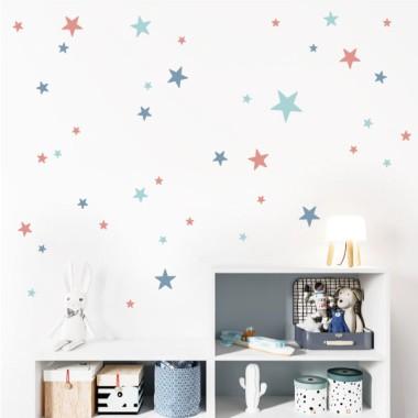 85 étoiles en vinyle. 3 couleurs au choix - vinyle décoratif avec étoiles