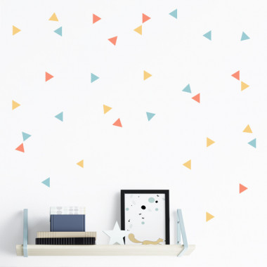 Triángulos nórdicos 3 colores a escoger - Vinilos decorativos