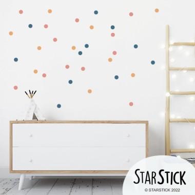 Mini confetti. 3 Couleur à choisir - Sticker muraux