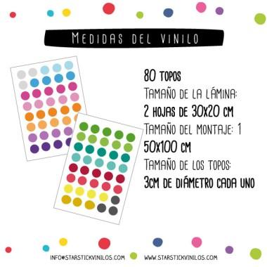 Mini confeti de colors - Vinils decoratius amb rodonetes de colors