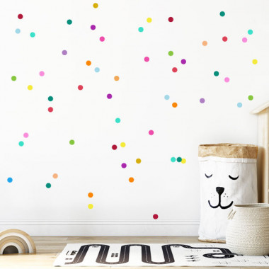 Sticker dots - Mini confettis colorés