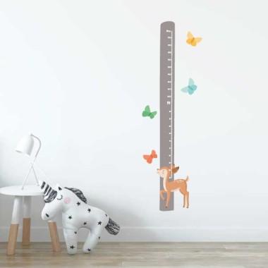 Cervatell infantil - Vinil mesurador de paret