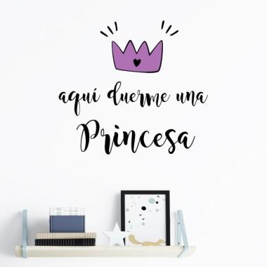Aquí dorm una princesa - Vinils amb frases personalitzades