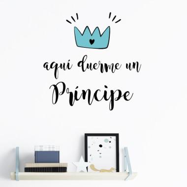 Ici un prince dort - Stickers phrase