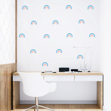 Arc-en-ciel - 3 couleurs au choix - Sticker décoratif