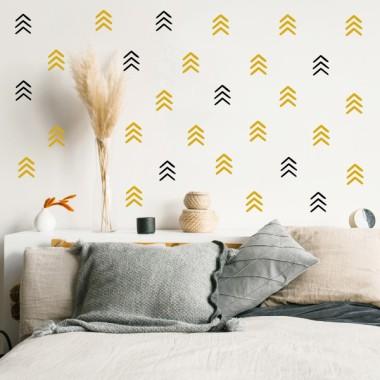 Sticker décoratif - Angles et formes géométriques - 3 couleurs au choix
