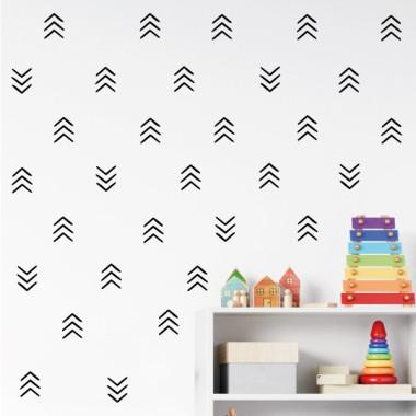 Vinilos hogar y casa Ángulos y formas géometricas - 3 colores a elegir Vinilos básicos. Estrellas, topos... Decora tu salón, comedor, recibidor o la pared que más te apetezca, con este elegante vinilo decorativo para casa. Puedes realizar una combinación de dos o tres colores, o adquirir el pack en un solo color. Una forma muy original, fácil y económica de dar un cambio radical en tus paredes de tu hogar. Medidas del vinilo decorativo Tamaño de la lámina: 26X60 cmNúmero de piezas:38 conjuntos de 3 líneasTamaño aproximado el montaje: 125x70 cmTamaño de cada línea: 4,8x2 cmTamaño de cada cuadrado compuesto por 3 ángulos: 5x6 cm     vinilos infantiles y bebé Starstick