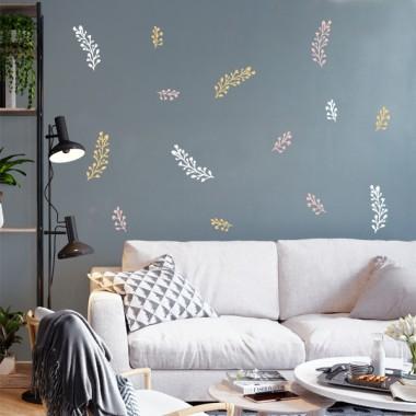 Sticker maison - Brindilles de fleurs - 3 couleurs au choix