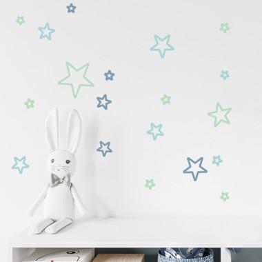 Tatouage étoiles couleur au choix - Sticker mural décoratif