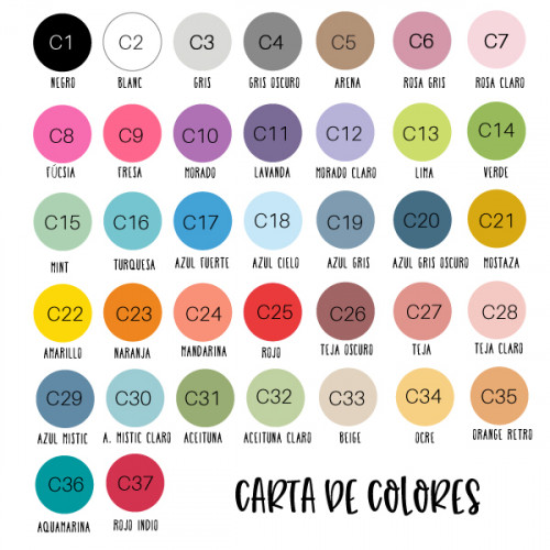 Astericos de colores - Vinilo decorativo. Color a elegir