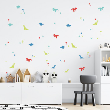 Dinos - Vinilo decorativo de pared estilo nórdico