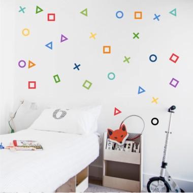 Vinyles décoratifs - Gamer Shapes - 3 couleurs au choix
