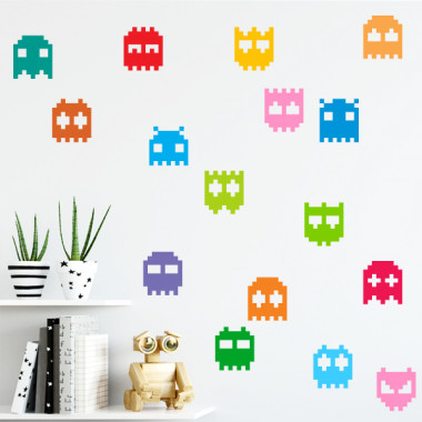 Gamer monsters - 3 couleurs au choix - Stickers décoratifs