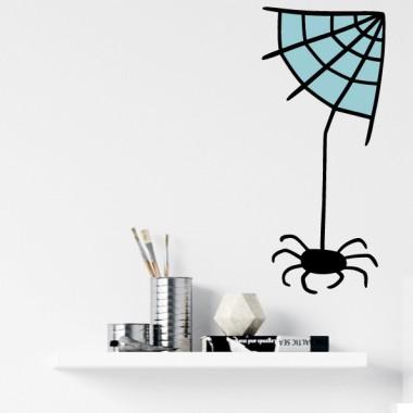 Arañita - Vinilos decorativos de pared Vinilos casa Si te gusta ser diferente y decorar tus espacios de manera original, te proponemos éste vinilo; una arañita con tu telaraña. Vinilos decorativos que marcan la diferencia y hacen de cualquier rincón un espacio lleno de personalidad. Elige color, tamaño y empieza ya a decorar tus paredes. Medidas aproximadas del vinilo montado (ancho x alto) Básico: 28x66cm Pequeño:39x90 cm Mediano:50x120cm Grande:65x155cm Gigante:85x200cm  vinilos infantiles y bebé Starstick