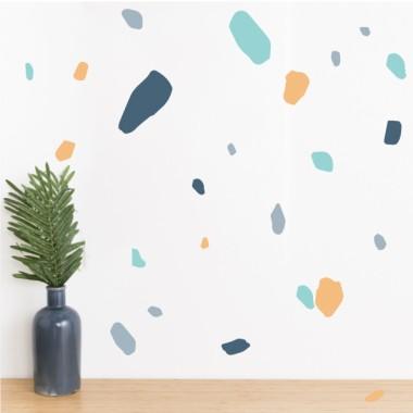 Sticker décoratif - Terrazzo - Orange