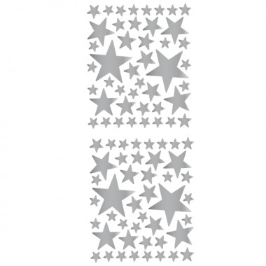 85 Étoiles Argent - Sticker muraux