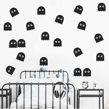 Fantasmas comecocos - Vinilos decorativos videojuegos adolescentes