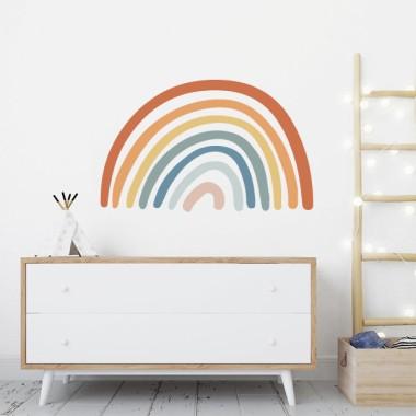 Súper Arcoíris - Vinilos decorativos Vinilos Infantiles Vinilo decorativo con un fantástico arcoíris. Puedes elegir entre 4 combinaciones diferentes de color. Selecciona las tonalidades que más se adapten a tu hogar y realiza, con muy poco esfuerzo, un cambio radial en tus paredes. Medidas aproximadas del vinilo infantil montado (ancho x alto) Básico:45x30 cmPequeño:58x42 cm Grande:93x58 cmGigante:131x90 cm  AÑADE UN NOMBRE AL VINILO DESDE 9,99€ vinilos infantiles y bebé Starstick