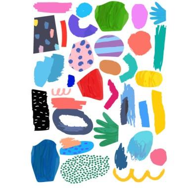 Color Art - Vinilos decorativos juveniles adolescentes Vinilos Juveniles Vinilo decorativo adolescentes y juveniles con formas de distintos tamaños y colores. Deja volar tu imaginación, reparte cada pieza por tus paredes y chulea de nueva y original decoración.  Medidas aproximadas del vinilo infantil montado (ancho x alto)Básico:75x50cmPequeño:100x70 cmMediano: 145x90 cmGrande:200X40 cmGigante: 270x190 cm  AÑADE UN NOMBRE AL VINILO DESDE 9,99€ vinilos infantiles y bebé Starstick
