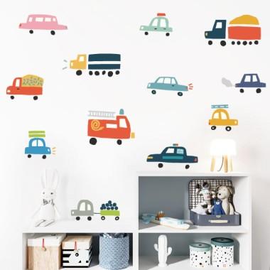 15 Véhicules pour enfants - Stickers décoratifs