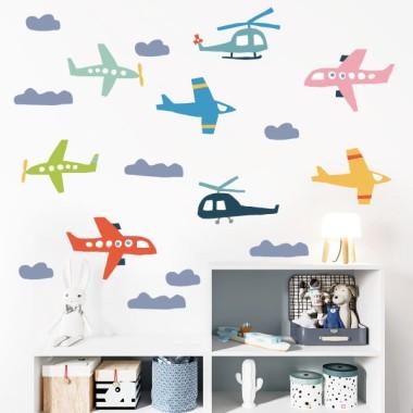 15 avions et hélicoptères - Stickers pour enfants