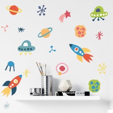 Espace colorés - Stickers pour enfants