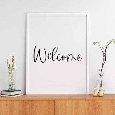 Bienvenid@ - Lámina decorativa de pared