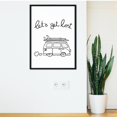 Let 's get lost - Lámina decorativa de pared