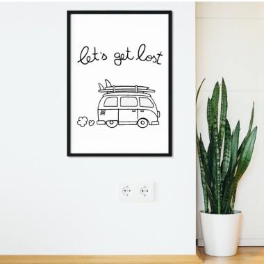 Let 's get lost - Toiles décoration d'intérieur
