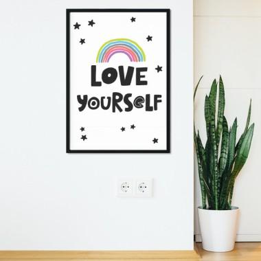 Love yourself - Toiles décoration d'intérieur
