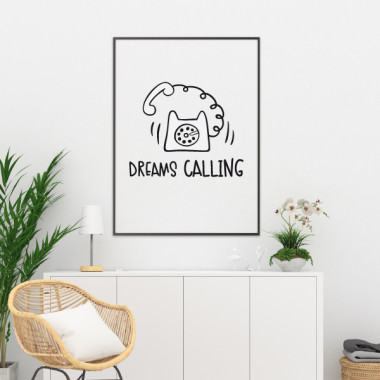 Dreams Calling - Lámina decorativa de pared