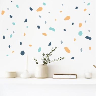 Vinilos hogar y casa mosaico- Terrazo - Orange