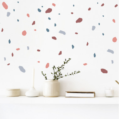 Sticker décoratif - Terrazzo - Terracota