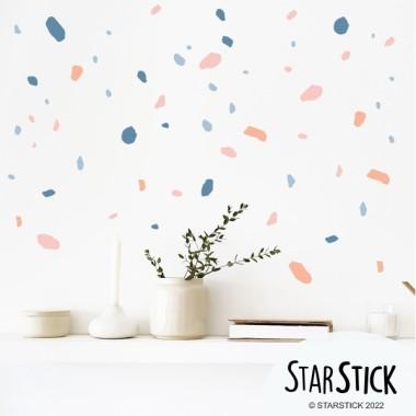Sticker décoratif - Terrazzo - Coral