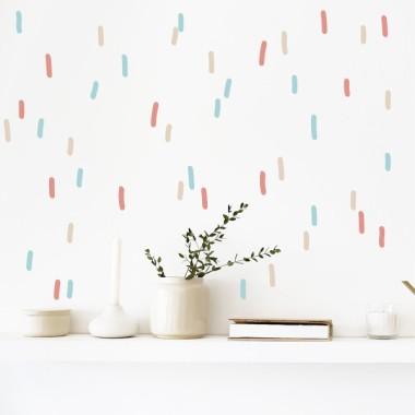 Sticker décoratif - Lignes de confettis - 3 couleurs au choix