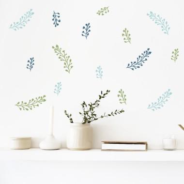 Vinilos hogar y casa Ramitas de flores - 3 colores a elegir