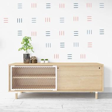 Sticker décoratif - Lignes - 3 couleurs au choix
