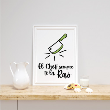 Lámina decorativa de pared - El chef siempre tiene razón