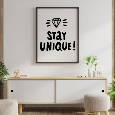 Stay Unique - Làmina decorativa