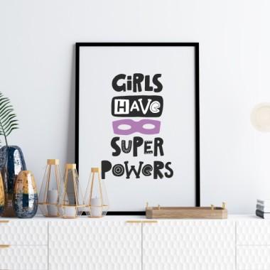 Girls have super powers - Toiles décoration d'intérieur