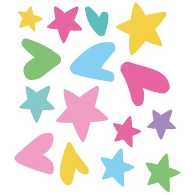 Extra Pack - Estrellas y corazones unicornio