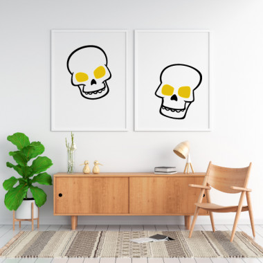 Lot de 2 affiche décoration du maison - Skulls