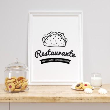 Làmina decorativa - Restaurant. Menjar casolà