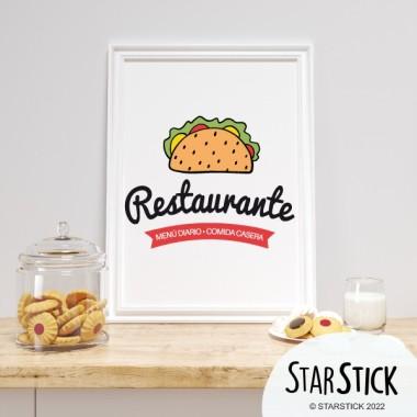 Lámina decoración cocinas - Restaurante. Comida casera