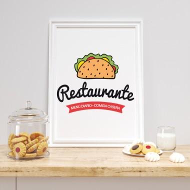 Toiles décoration cuisine - Restaurant. Cuisine maison