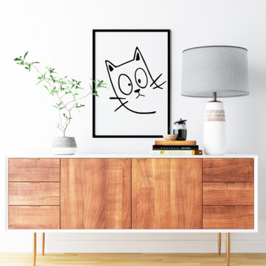 Lámina decorativa de pared - El gato travieso