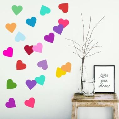 Confetti cœurs - Sticker muraux Accueil Les Tailles 42 coeurs Taille de la feuille: 60x30 cm vinilos infantiles y bebé Starstick